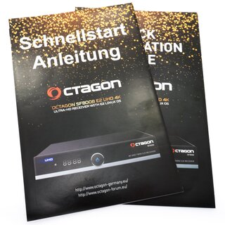OCTAGON SF8008 4K UHD E2 Twin 2x DVB-S2X MS Receiver