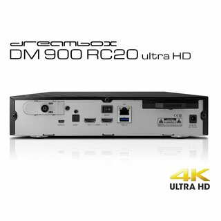 Dreambox DM900 RC20 UHD 4K E2 Linux PVR Receiver schwarz